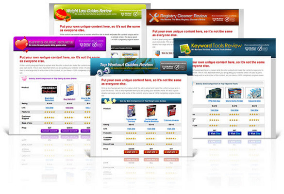 Product picture 10 Hot Product Review Affiliate Websites ready for Clickbank
